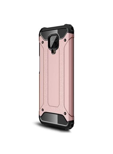 Microsonic Xiaomi Redmi Note 9 Pro Kılıf Rugged Armor Pudra